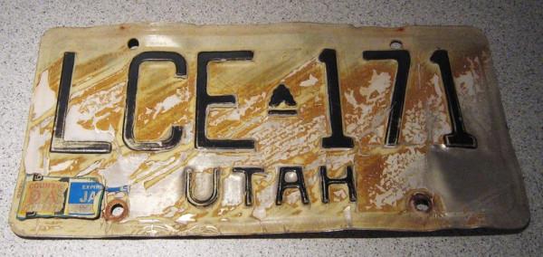 """US-Nummernschild """"Utah"""", original"""