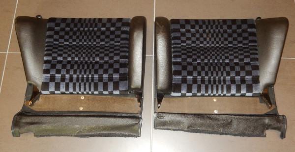 Kunstleder-Rücksitzlehnen schwarz, passend für Porsche 911