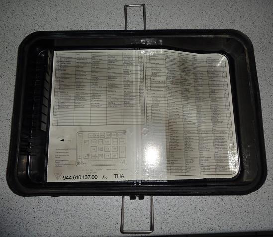 Sicherungskasten-Abdeckklappe, passend für Porsche 944