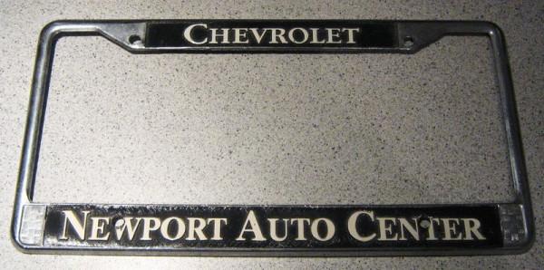 "US-Nummernschildumrandung ""Chevrolet"", chrom"