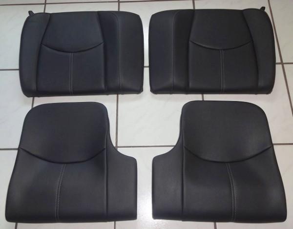 Leder-Rücksitzeinheit schwarz, passend für Porsche 997 Coupe