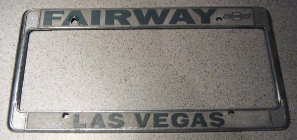 """US-Nummernschildumrandung """"Las Vegas"""", chrom"""