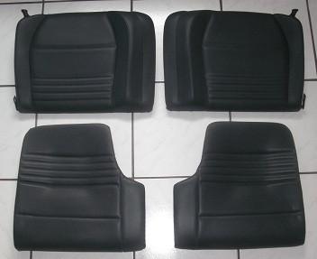 Kunstleder-Rücksitzeinheit schwarz, passend f. Porsche 996-Coupe