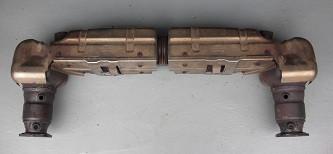 Endschalldämpfer/Kats, passend für Porsche 996 Turbo