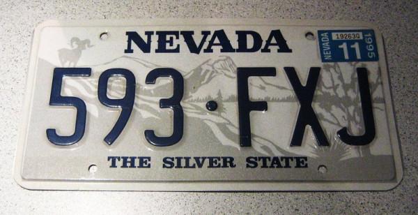 """US-Nummernschild """"Nevada"""", original"""