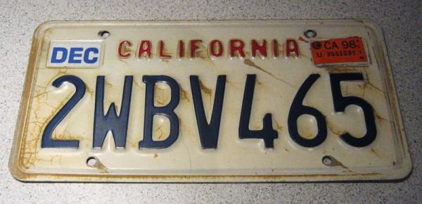 """US-Nummernschild """"California"""", original"""