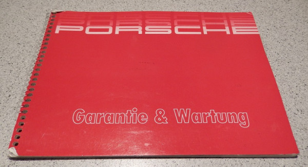 Service-Heft, original, passend für einen Porsche 944