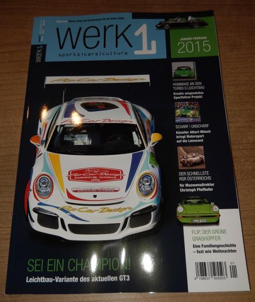 """Porschefahrer-Zeitschrift """"Werk 1"""", neu"""
