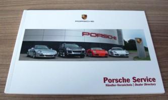 """Bordmappen-Zubehör """"Porsche Service Händler"""",passend für 997,neu"""