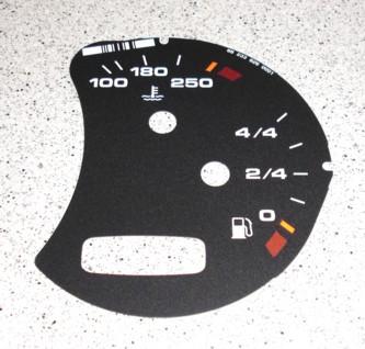 Ziffernblatt in schwarz, passend für Porsche 996, neu