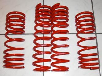 """Tieferlegungsfedern """"Hahn-Motorsport"""", rot, passend für 964"""
