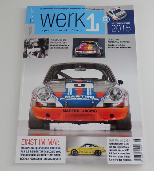 """Porschefahrer-Zeitschrift """"Werk1"""", neu"""